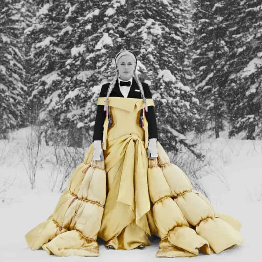The former Olympic skier Lindsey Vonn wears Thom Browne autumn/winter 2021