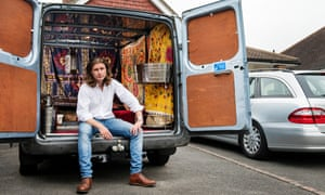 Damian Le Bas with his Transit van