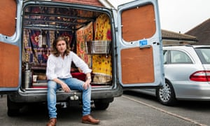 Damian Le Bas with his Ford Transit.