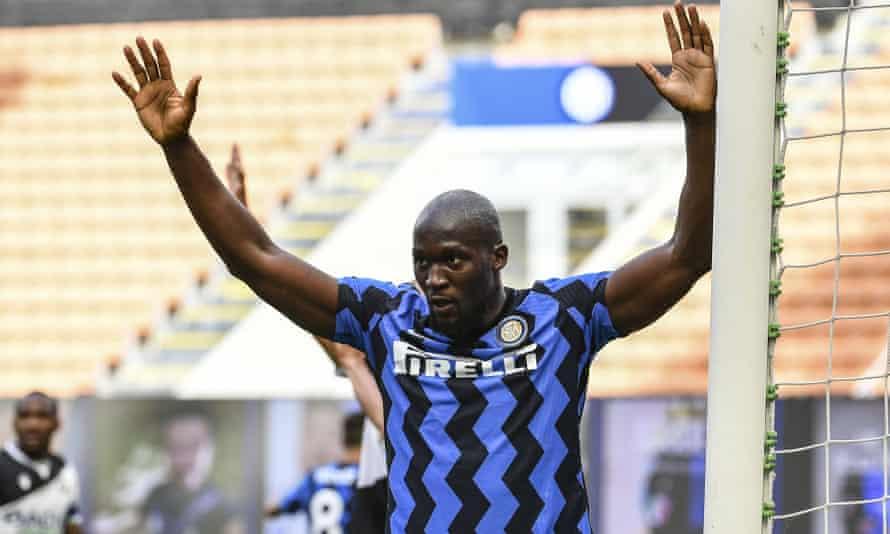 Romelu Lukaku after scoring for Inter against Udinese