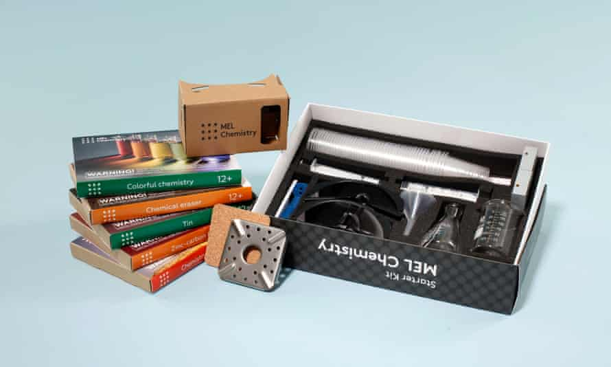 The MEL chemistry kit - quite different from the 1980s pre-health and safety offerings ...