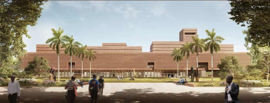 An artist's impression of the planned Edo Museum of West African Art in Benin City.