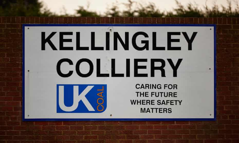 A sign outside Kellingley colliery.