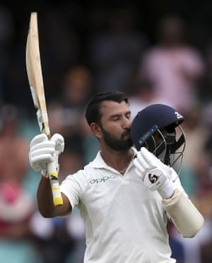 Cheteshwar Pujara starred on day one of the Sydney Test.