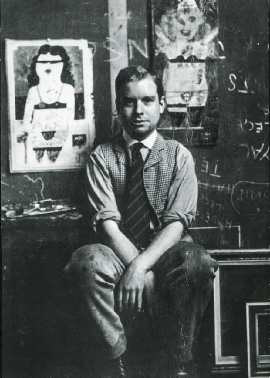 Peter Blake at the Royal College of Art, in 1955.