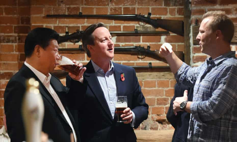 British Prime Minister David Cameron and Chinese President Xi Jinping