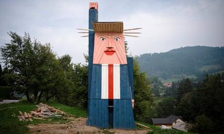Melania Trump Statue Set On Fire In Slovenia Melania Trump The Guardian