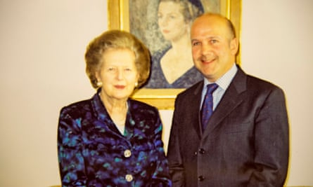 Margaret Thatcher and Anthony Gilberthorpe in 2003.