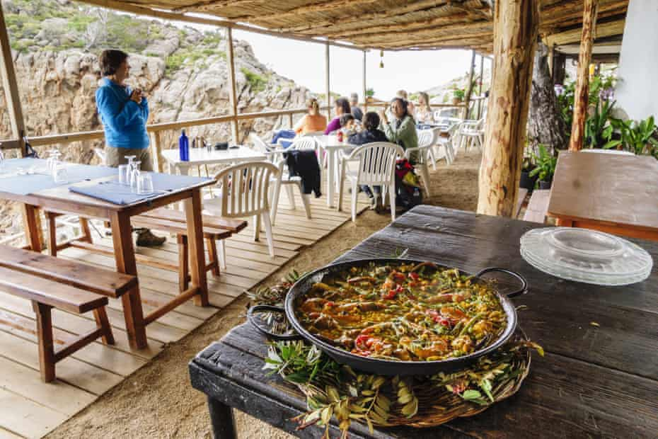 Paella for lunch at Sa Foradada restaurant