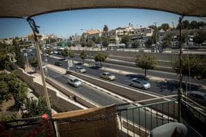 The view from Koko Deri's roof in Musrara in West Jerusalem