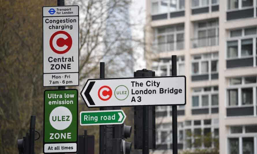 Central London Ulez signs: but from next year they will include most of the capital.