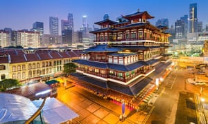 The Buddha Tooth Relic Temple in Singapore.