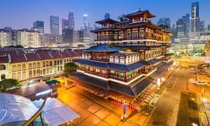بوذا الأسنان بقايا معبد سنغافورة