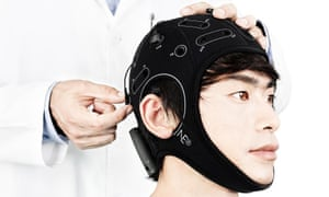 The flexible cap developed by Neuroelectrics. Depending on the model and software, the caps can be used to monitor certain types of brain activity or deliver low levels of electrical current.