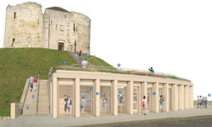 Artist's impression of the proposed visitor centre at Clifford's Tower, York.