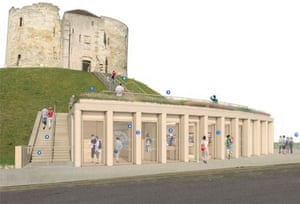 Artist's impression of the proposed visitor centre at Clifford's Tower