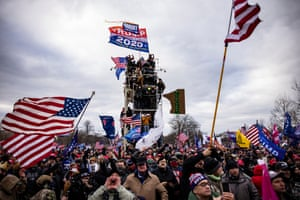 The mob stormed the Capitol following a rally with Donald Trump.