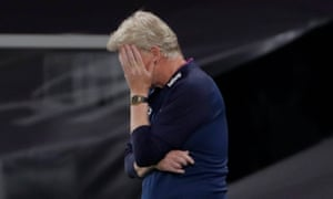 West Ham manager David Moyes can't bear to watch another defeat.