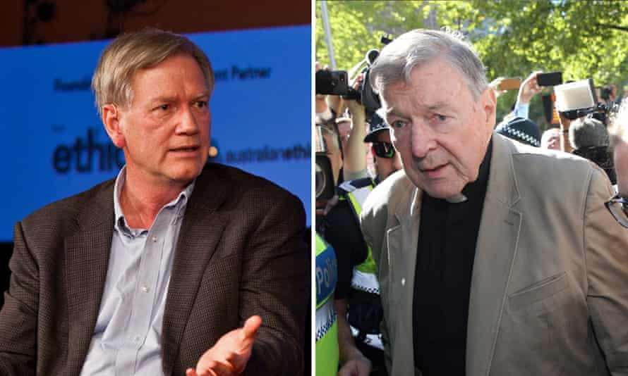 Conservative commentator Andrew Bolt(L) and Cardinal George Pell (R)