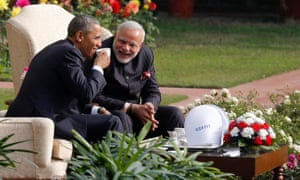 Barack Obama has coffee with Narendra Modi during his Republic Day visit to India last year