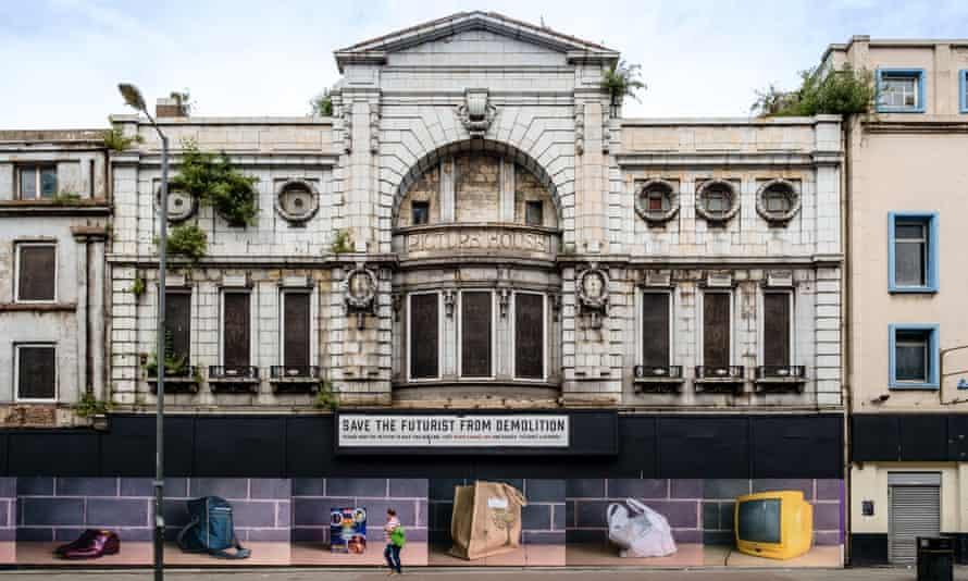 The now-demolished Futurist cinema in Liverpool.