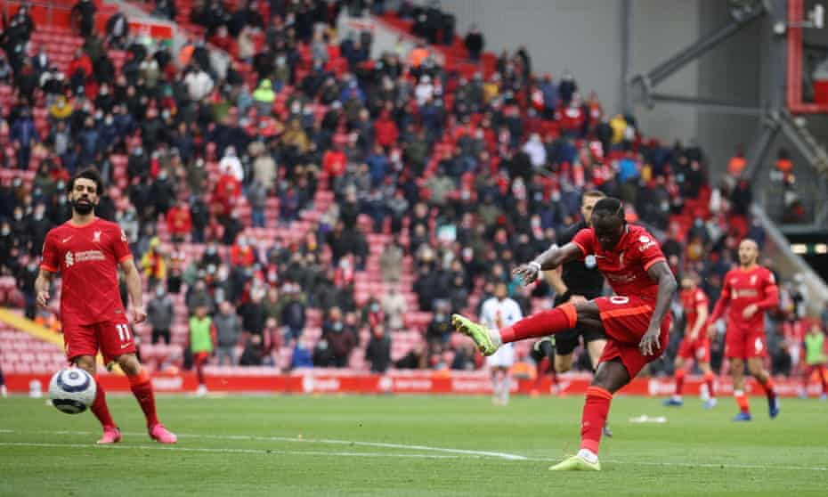 sadio mané scores his second of the game to complete a 2-0 win at anfield.