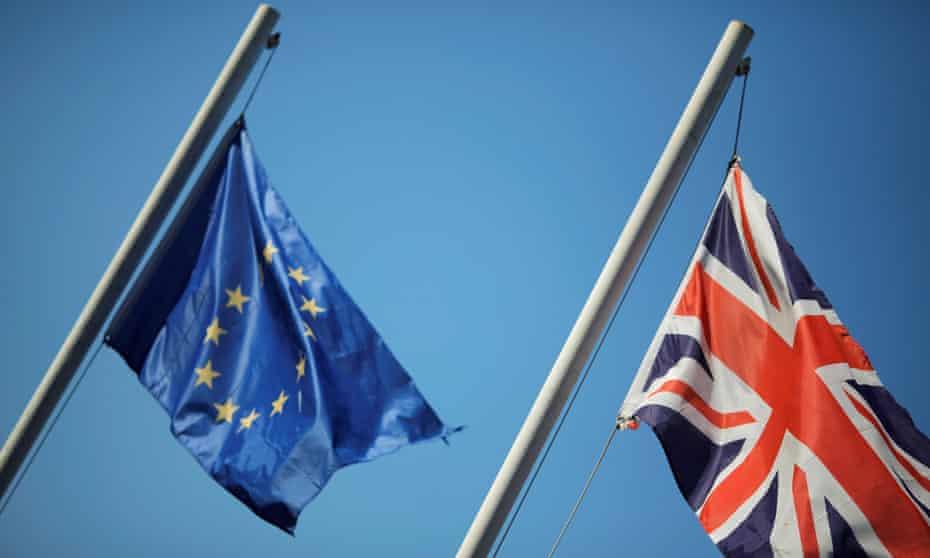 The Union Jack and the European Union flag