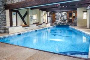 Indoor pool at Beater's Cottage