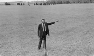 Floyd McKissick, former Civil Rights lawyer-activist, planned to build Soul City on these empty fields in Warren County, N.C. in 1974.
