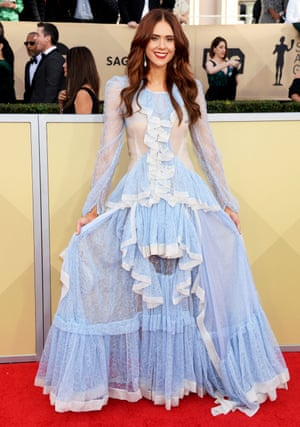 The singer and star of Glow Kate Nash wore bespoke Bora Aksu on the red carpet.