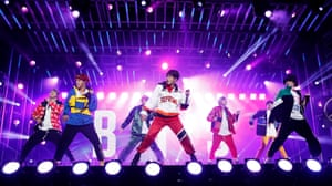 BTS perform on Jimmy Kimmel Live! in the US.