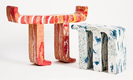 Playful terrazzo-style furniture from the Thing Thing collection.