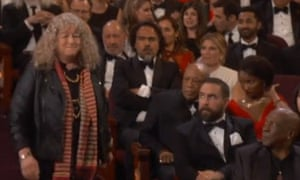 Jenny Beavan makes her way to the stage
