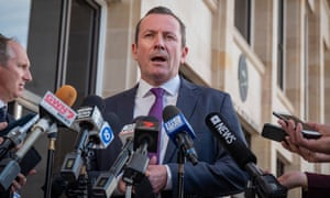 The  Western Australian premier, Mark McGowan, had to deliver his speech in front of a half-empty auditorium of a walkout by union delegates