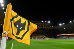 A corner flag at Wolves
