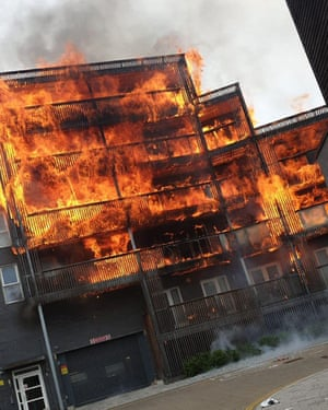 Twenty flats were destroyed in Barking and a further 10 were damaged by heat and smoke