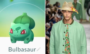 Bulbasaur: As the name suggests, this guy is half bulb, half dinosaur. He can also grow, if needed. Hey, whatever works. Still, the colour scheme of three shades of green is refreshingly simple and reminiscent of Richard James' SS16 catwalk show.