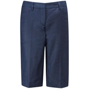 Pure collection laundered linen shorts