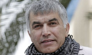 Nabeel Rajab, charged with undermining the prestige of the kingdom of Bahrain.