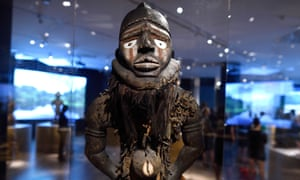 The gallery of power figures at Kongo: Power and Majesty September 16, 2015 at the Metropolitan Museum of Art in New York.