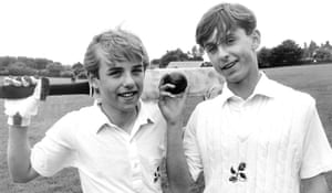 Gary and Phil Neville playing for Lancashire Schools