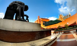 the British Library concourse, home to a statue of Sir Isaac Newton by Eduardo Paolozzi