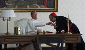 Jude Law as Pius XIII with Silvio Orlando as the 'patently evil' Cardinal Voiello in The Young Pope.