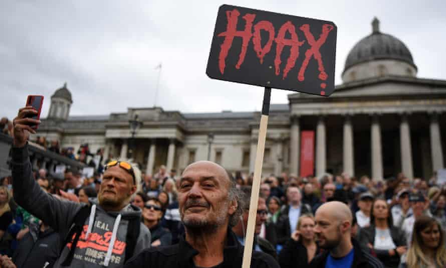 Protesters in Trafalgar Square