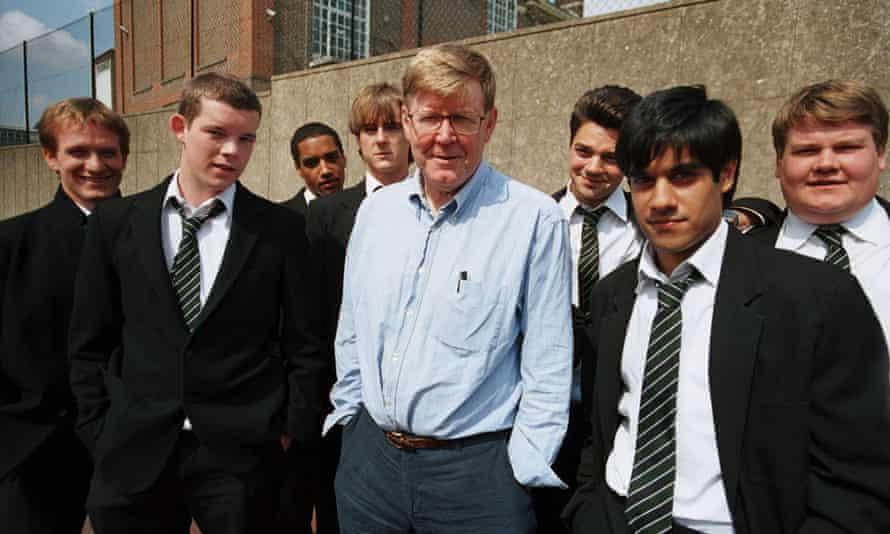 History boys … Jamie Parker, Russell Tovey, Samuel Anderson, Andrew Knott, Alan Bennett, Dominic Cooper, Sacha Dhawan and James Corden.