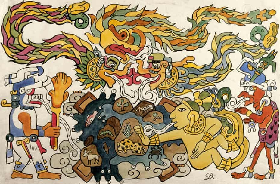 Diego Rivera Creation of the Universe (La creación del universo), Illustration for Popol Vuh, 1931