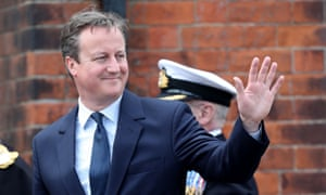 David Cameron during Armed Forces Day in Cleethorpes, Lincolnshire