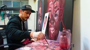 Abdul Abdullah painting