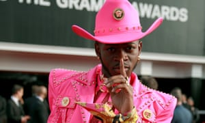 Lil Nas X at the Grammy Awards in January.