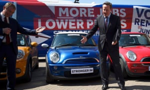 David Cameron on the campaign trail.